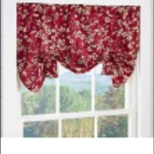 Plow & Hearth Bow Tie Valance - 42wx26L 2 sets NWT